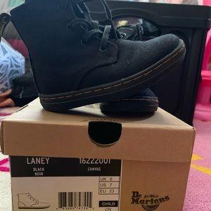 Dr. Martens Child Size 7 Laney Canvas boots